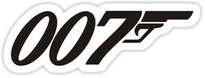 James Bond 007 logo Sticker