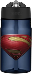 Superman Man Of Steel Logo Water Bottle