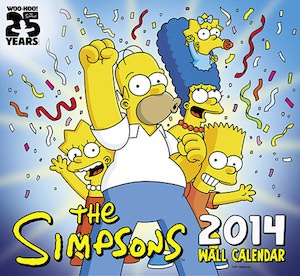 The Simpsons 2014 Wall Calendar