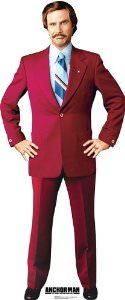 Anchorman Ron Burgundy Cardboard poster