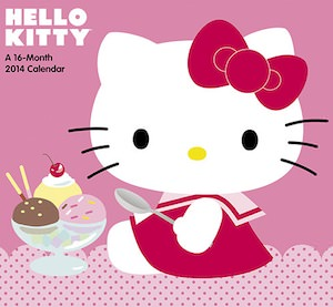 Hello Kitty Wall Calendar 2014