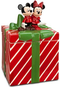 Disney Mickey And Minnie Mouse Holiday Cookie Jar