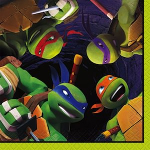Teenage Mutant Ninja Turtles beverage napkins TMNT