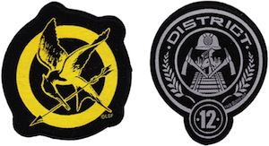 The Hunger Games Mocking Jay And District 12 Clothing Patch