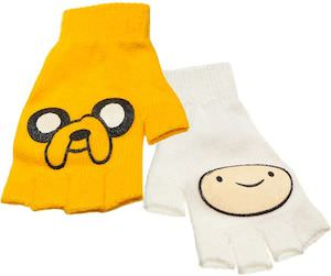 Adventure Time Finn and Jake Fingerless Gloves