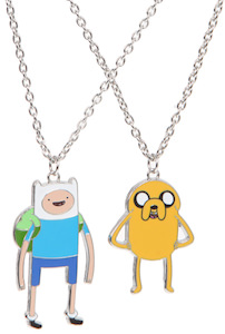 Adventure Time Jake And Finn Necklace Set
