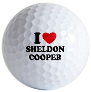 The Big Bang Theory I Love Sheldon Cooper Golf Balls