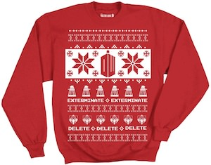 Doctor Who Dalek And Cybermen Christmas Sweater